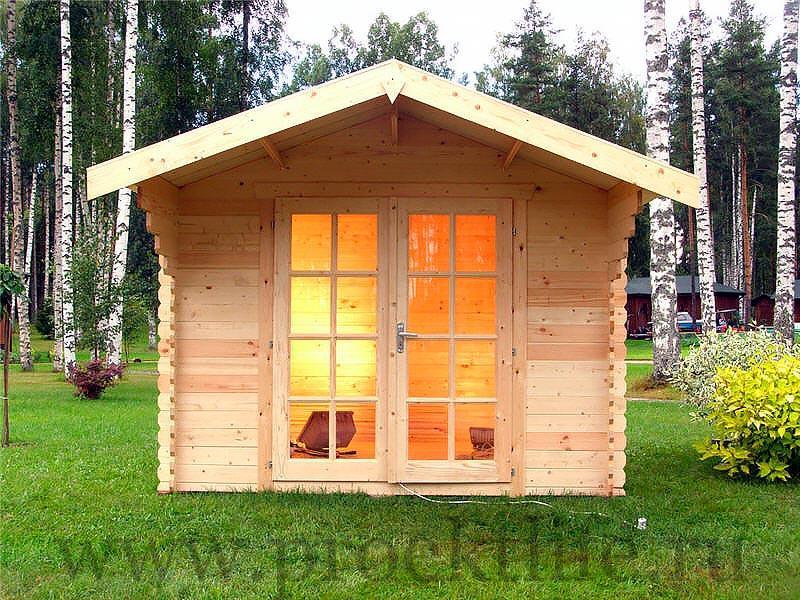 """- Готовый садовый домик из мини-бруса """"Лилу"""" - 1 3"""