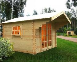 """Готовый садовый домик из мини-бруса """"Лилу"""""""