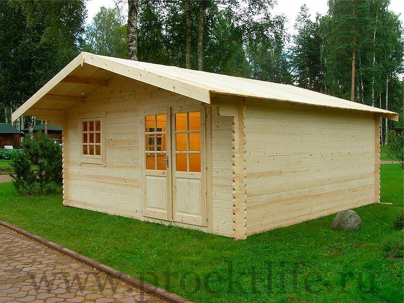 """- Садовый домик из мини бруса 45 мм """"Простор"""" - 2 5"""