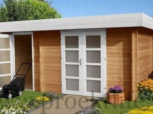 """- Уютный садовый домик из бруса 45 мм """"Модерн-2"""" - 3 8 300x225"""