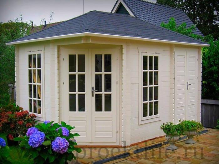 """Садовый домик из мини-бруса """"Белла"""""""