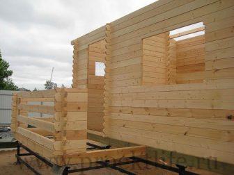 процесс строительства дачного домика