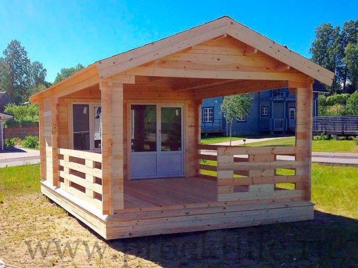 """- Садовый дачный домик из бруса 45 мм """"Уют"""" - 7 2 700x525"""