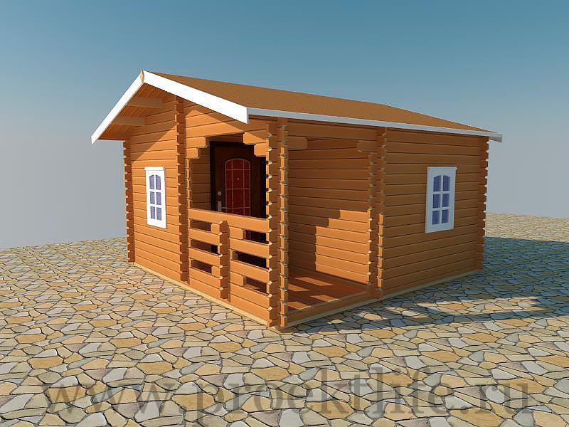 Садовый дом для дачи из бруса