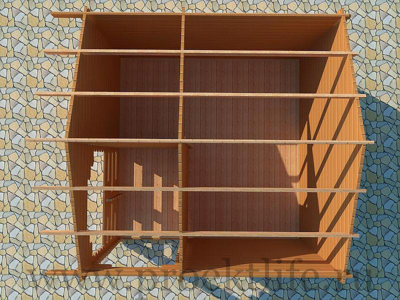 Дом для дачи из бруса
