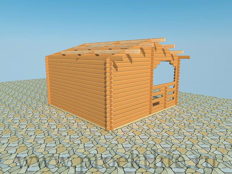 Дом для дачи из бруса Москва