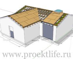 Как сделать крышу на пристройке к дому