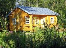 """Дом с верандой из двойного бруса 6×8 """"Оникс"""""""