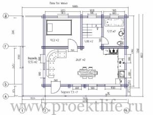 1эт 300x225 - Недорогие дома из двойного бруса по цене однокомнатной квартиры.