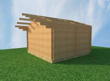 "Комплект коробки бани ""Конструктор-3×3"""