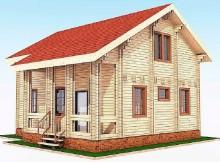 """Двухэтажный дом из двойного бруса 8×9 """"Аполон"""""""