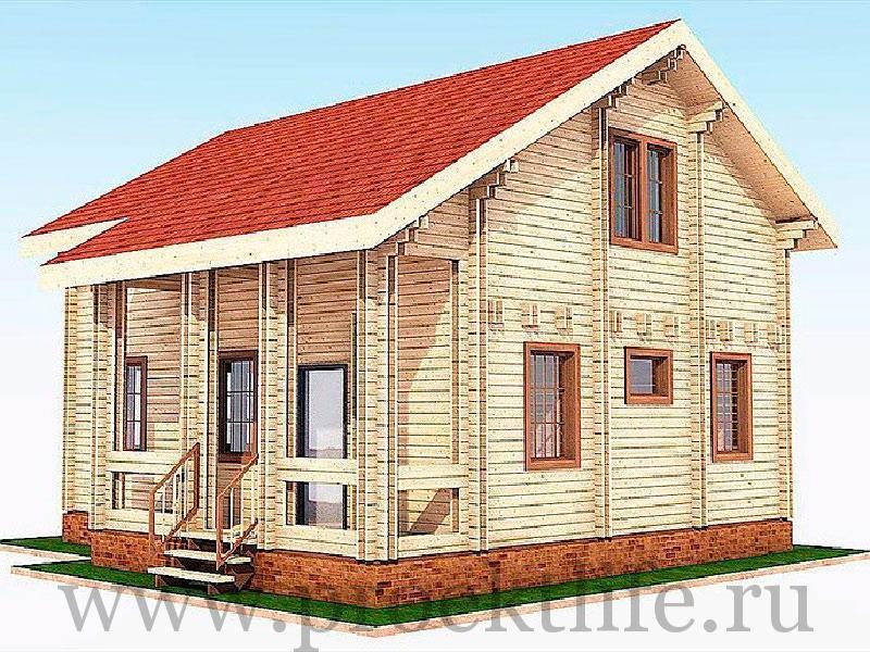 """Двухэтажный дом из двойного бруса """"Аполон"""""""