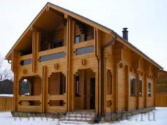Двухэтажный дом из бруса Голден