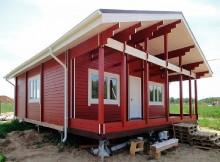 """Одноэтажный дом из двойного бруса 8×9 """"Данте"""""""