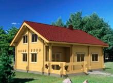 """Дом с мансардой из двойного бруса 10×10 """"Иллинойс"""""""