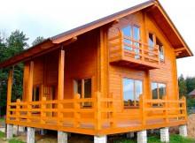 """Двухэтажный дом с верандой """"Сандал"""" 6×9"""