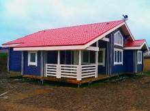 """Деревянный дом из двойного бруса 8×10 """"Аллегро"""""""