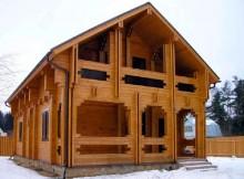 """Двухэтажный дом из двойного бруса 7×12 """"Голден"""""""