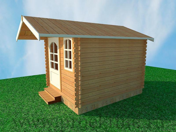 Садовые деревянные домики из бруса под ключ