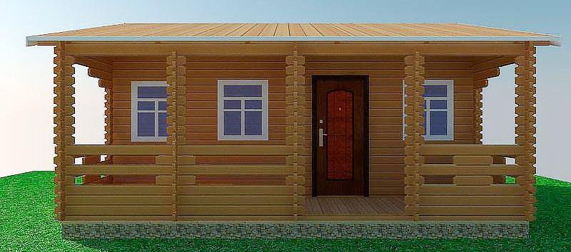 Строительство загородных, дачных домов из бруса под ключ