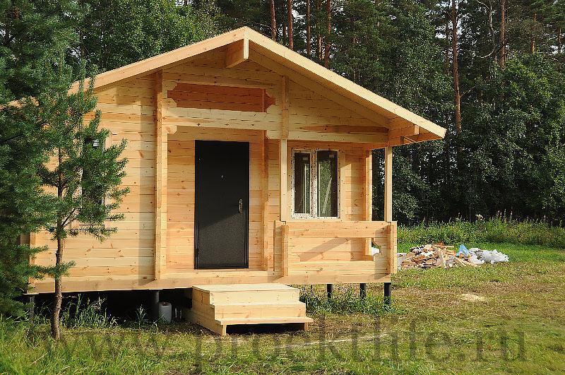 Как построить дачный дом своими руками из бруса