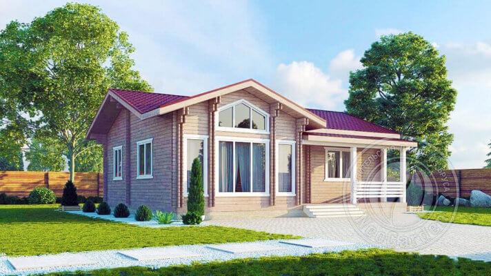 """Проекты для строительства деревянных домов из бруса под """"ключ"""""""
