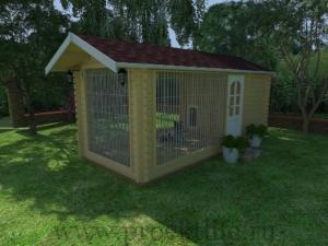 Утеплённый вольер для собаки 2x5 m
