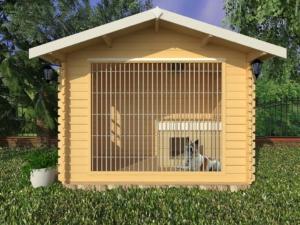 Вольер для собаки из дерева 3x2 m