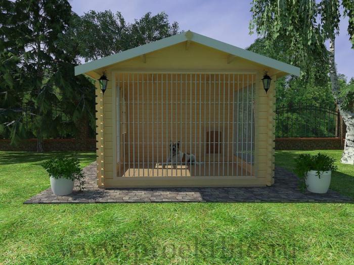 Вольер для собаки для дома 3x4,5 m