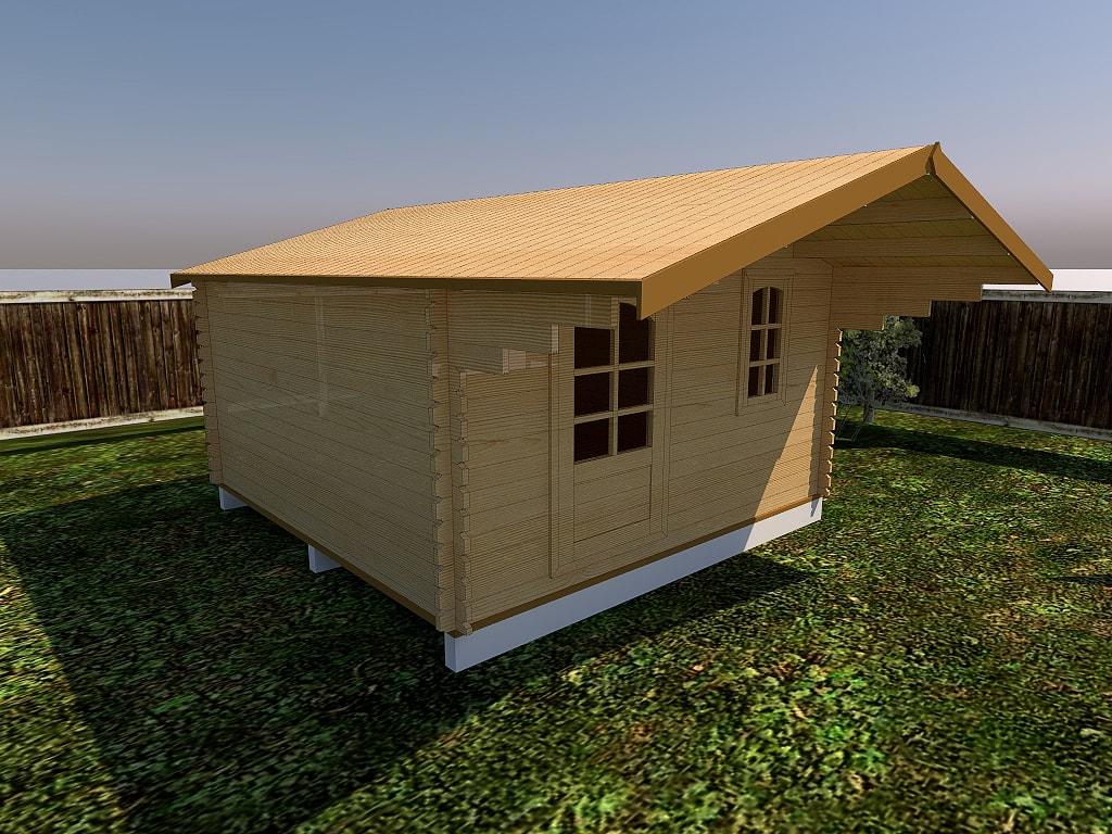 Как построить дачный домик из бруса