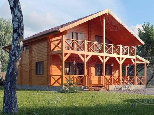 Дом из двойного бруса Омега