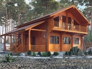 Дом из двойного бруса Мартин