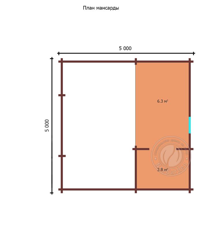 """- Дачный дом из бруса 45 мм """"Комфорт-8"""" - komfort 8 6 min 700x794"""