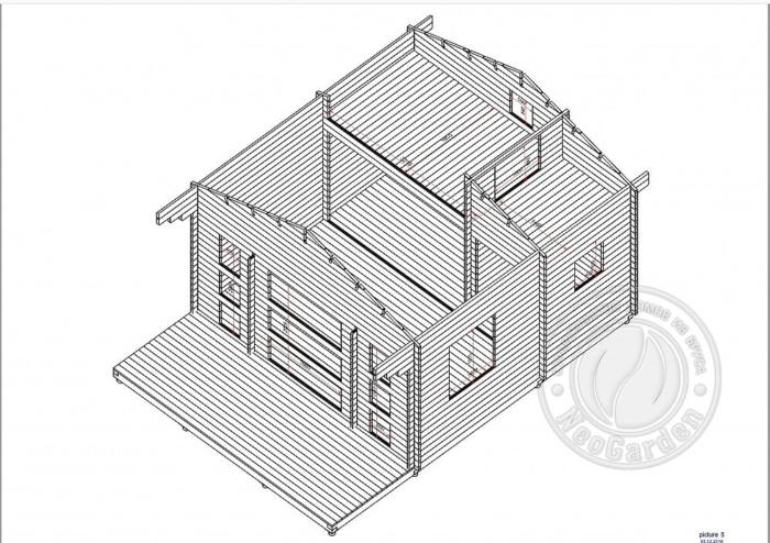 """- Дачный дом из бруса 45 мм """"Комфорт-8"""" - komfort 8 7 min 700x494"""