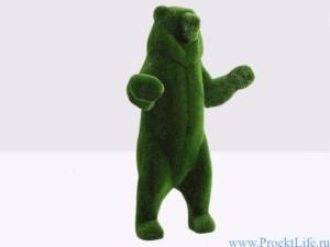 Садовая скульптура - Большой медведь