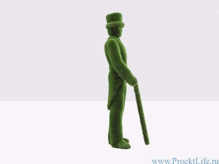 Садовая скульптура топиари – Джентльмен