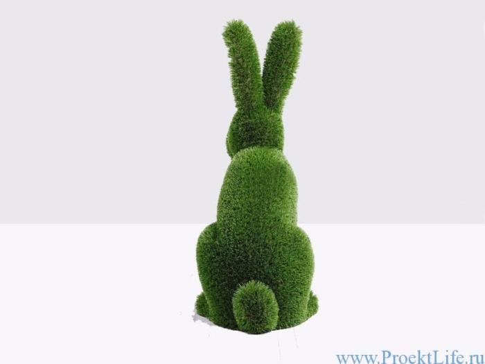 Садовая фигура - Кролик сидячий