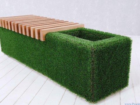 Мебель для сада Лавочка Sherwood, светлого цвета