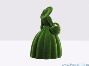 Топиари - Девушка с корзиной