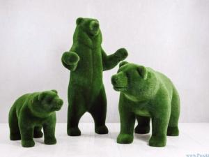 Статуя топиари - Три медведя