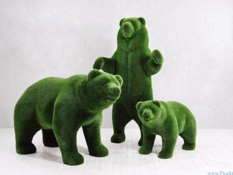 Садовая скульптура - Три медведя