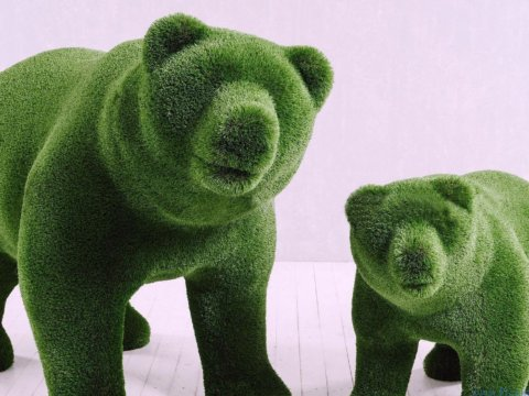 Топиари - Медведица и медвежонок