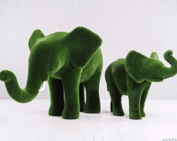 Садовая композиция Слон и слонёнок