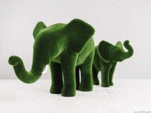 Садовая скульптура - Слон и слонёнок