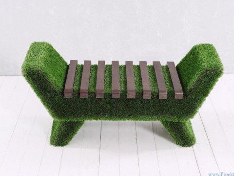Садовая мебель - Лавочка Barocco тёмного цвета