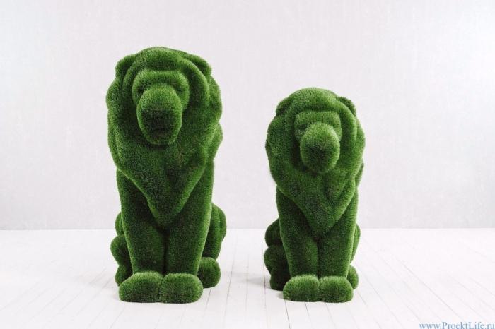 Садовая скульптура - Лев и львица