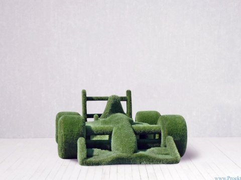 Садовая фигура - гоночная машина