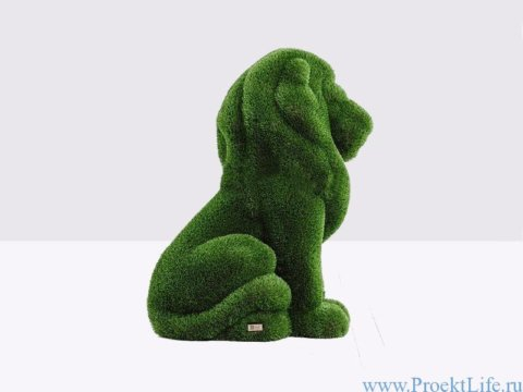 Садовая скульптура топиари - Большой лев