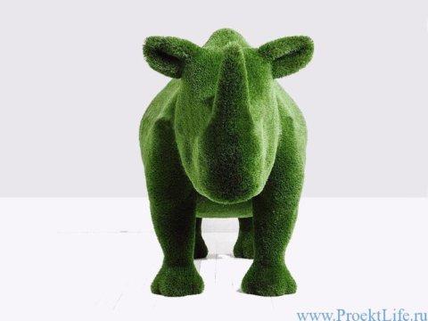 Садовая скульптура - Носорог