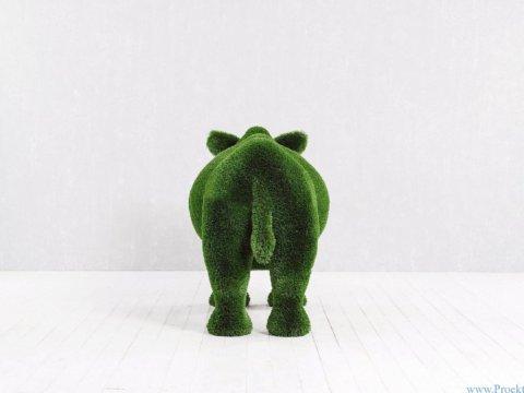 Садовая фигура - Носорог